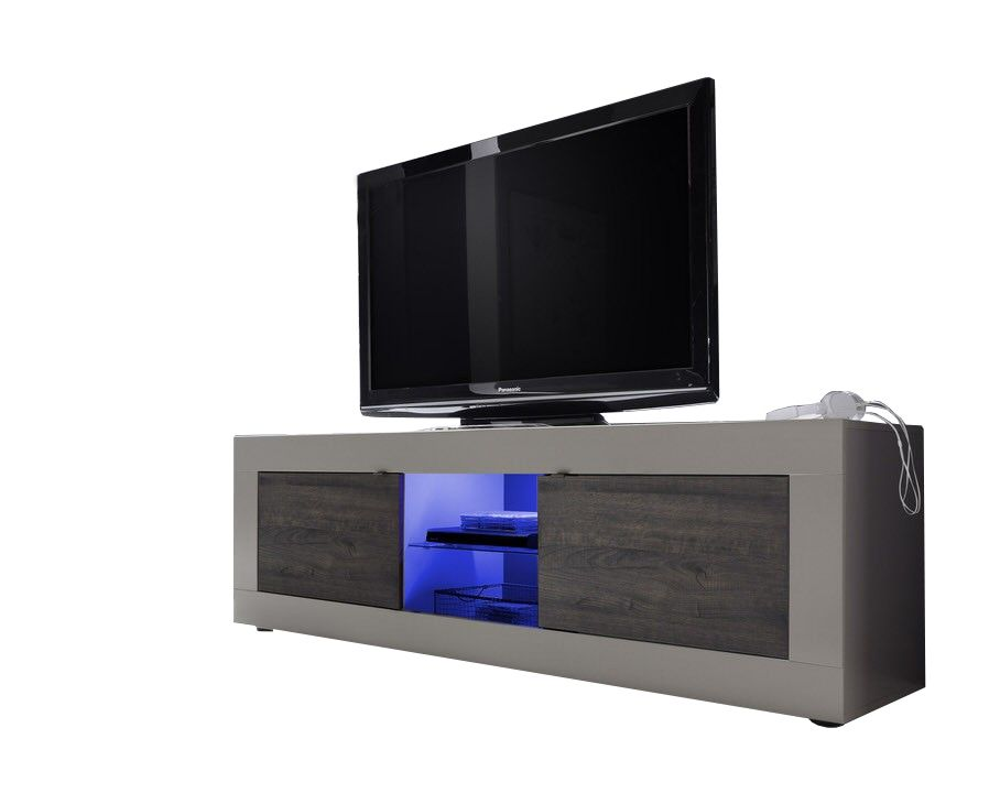Benvenuto Design Modena TV meubel Big Matt Beige/Wenge+LED