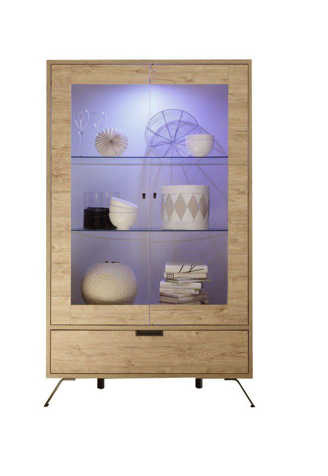 Benvenuto Design Palma Vitrinekast Large Eiken+LED verlichting