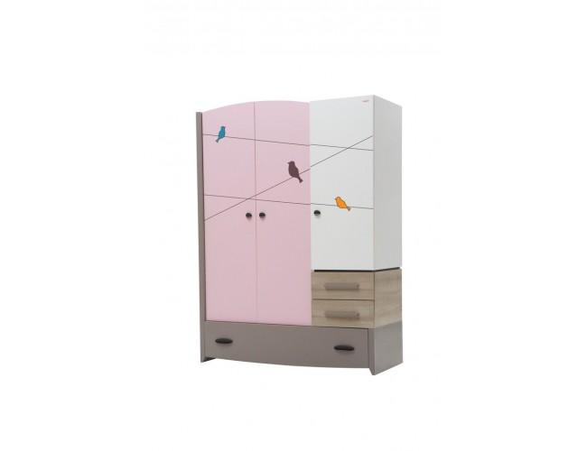 NewJoy Pink Birdy Kinderkledingkast Big