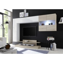 Benvenuto Design Nice TV wandmeubel Combi Wit/Eiken