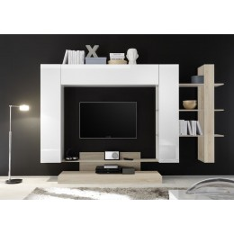 Benvenuto Design Nice TV wandmeubel One Wit-Eiken
