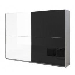 Davidi Design Kenzo Schuifdeurkast Tygo wit/zwart/wit