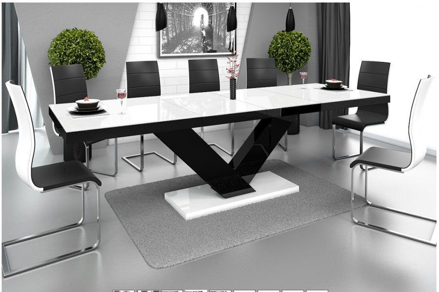 ... -meble-victoria-eettafel-uitschuifbaar-hoogglans-wit-zwart-wit.jpg