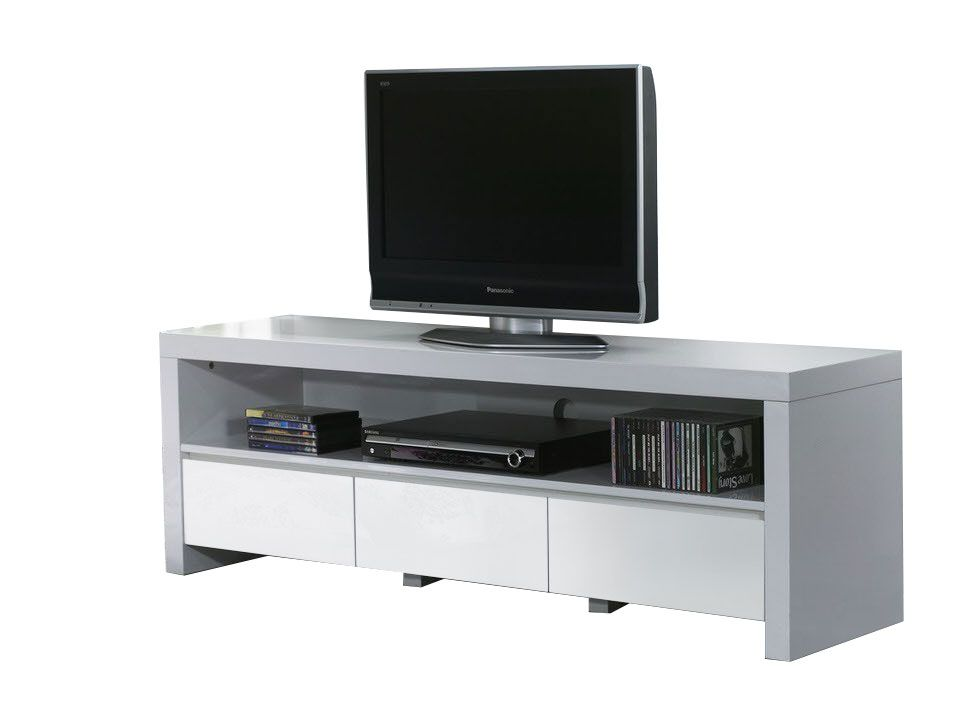 Tv meubel wit hoogglans design kopen online internetwinkel for Tv meubel design