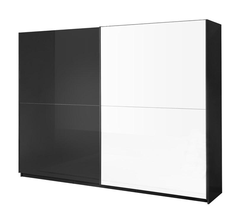 Davidi Design Kenzo Schuifdeurkast Tygo HG Zwart-Wit L148