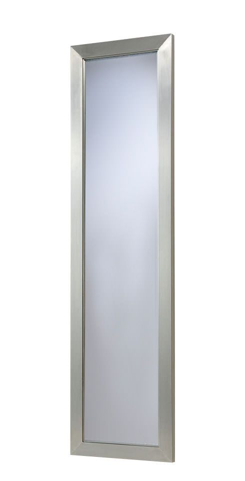 Rvs omrand spiegel 40x100cm verticaal als horizontaal zaloni in de aanbieding kopen - Ontwerp entree spiegel ...
