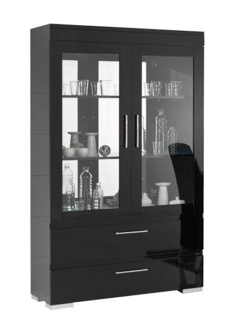 Davidi Design Gilda Grande Vitrinekast HG Zwart+Verlichting