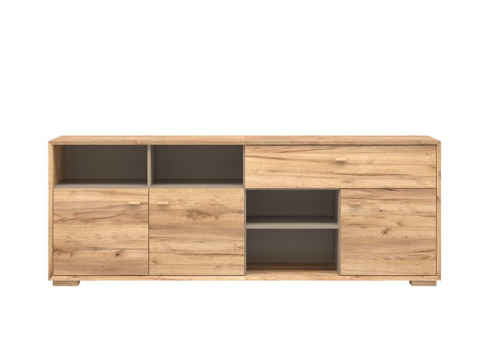 Germania Calvi Dressoir Low Eiken Lage Poten Outlet