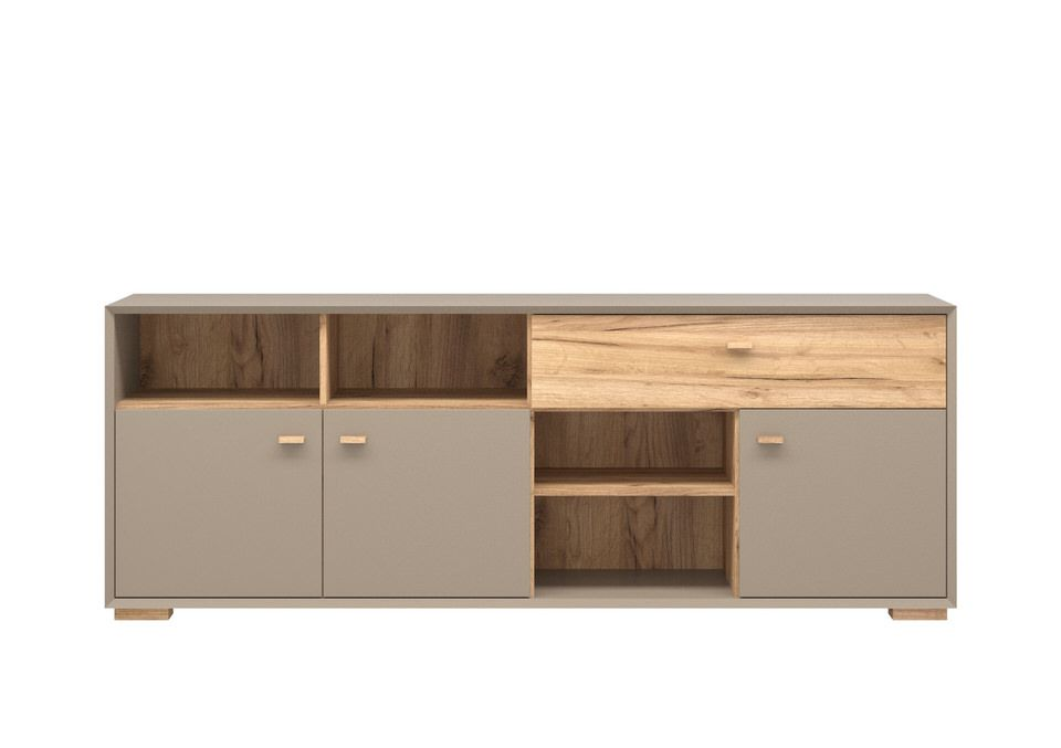 Germania Calvi Dressoir Low Grijs Lage Poten
