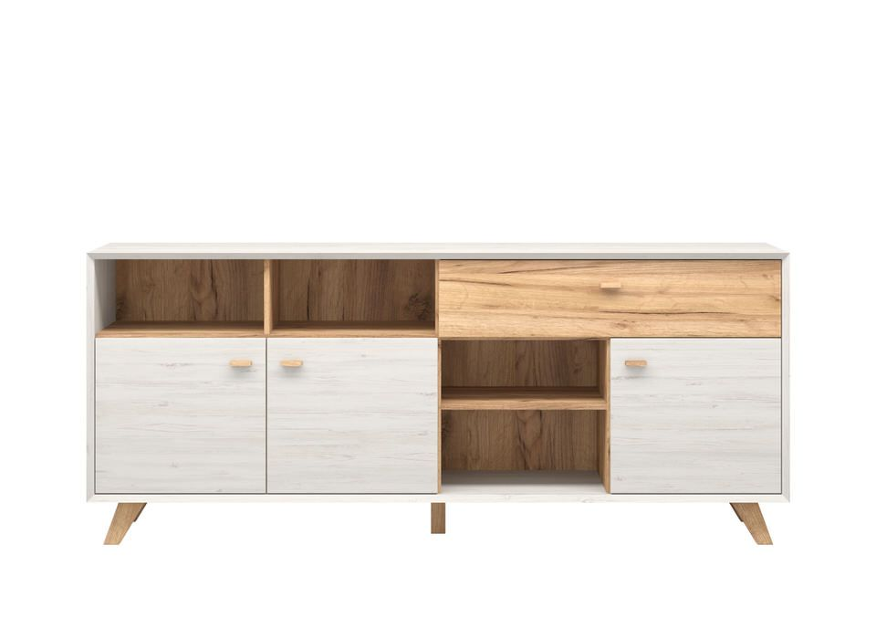 Germania Calvi Dressoir Low Wit Hoge Poten