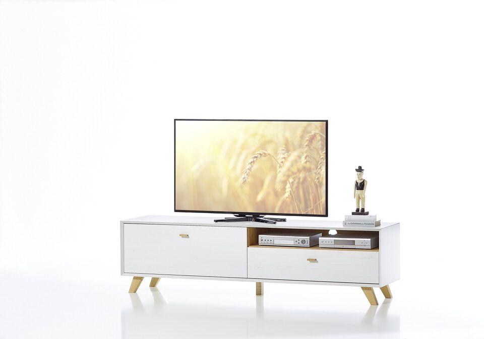 Germania Calvi TV meubel Medium Wit Hoge Poten