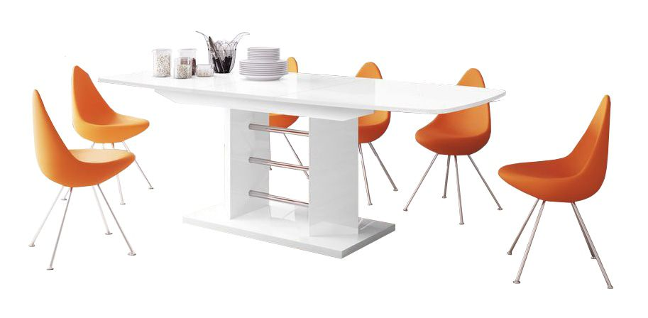 Hubertus Meble Linosa Three Eettafel Hoogglans Wit