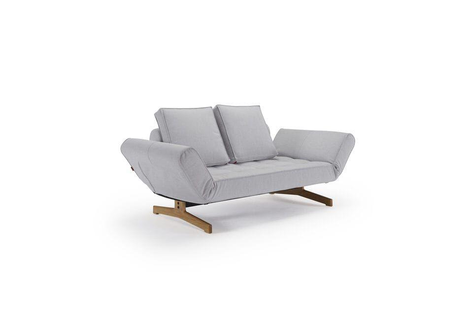 Innovation Ghia Wood Slaapbank Lichtgrijs