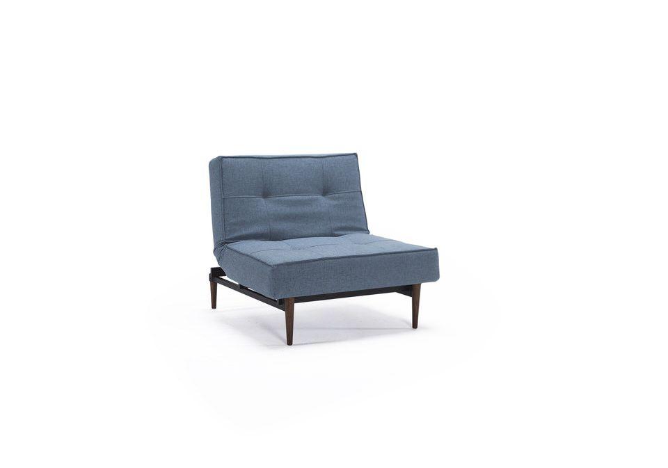 Innovation Splitback Fauteuil Lichtblauw+Styletto donkeren poten
