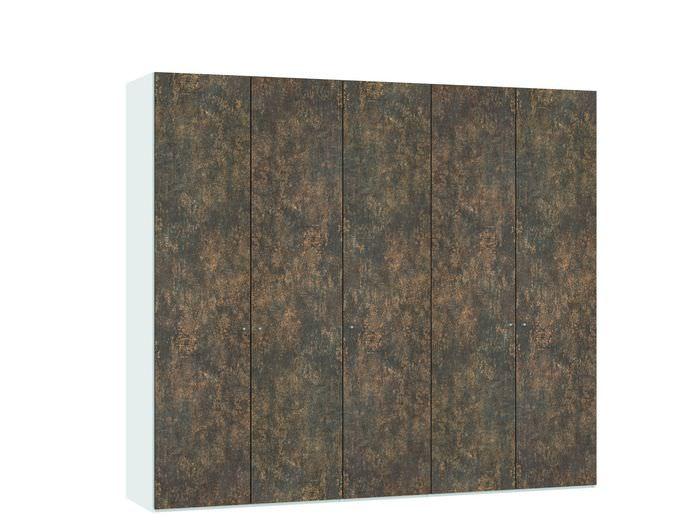 Judine Ferro Draaideurkast Brons/Wit 5 deurs