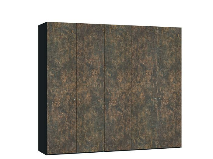 Judine Ferro Draaideurkast Brons/Zwart 5 deurs