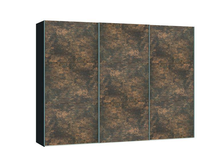 Judine Ferro Schuifdeurkast Brons/Zwart 303.1 cm.