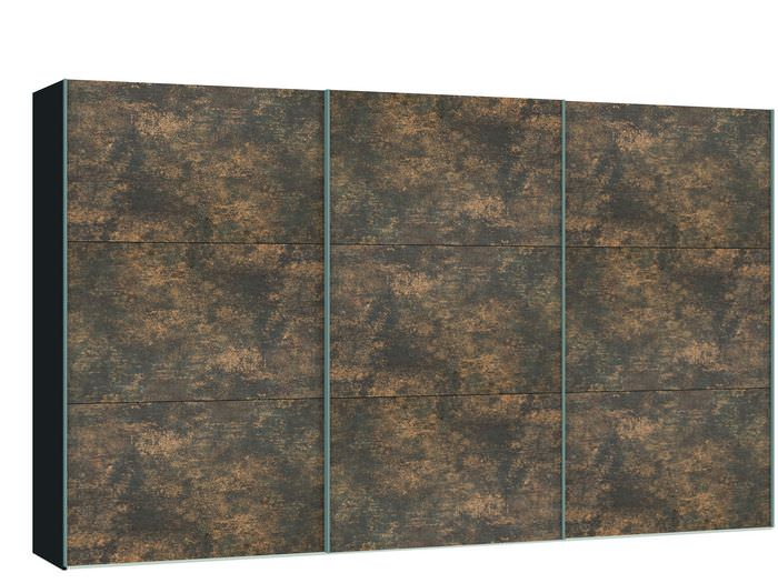 Judine Ferro Schuifdeurkast Brons/Zwart 378.6 cm.