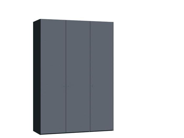 Judine Hampus Draaideurkast Donkergrijs/Zwart 3 deurs