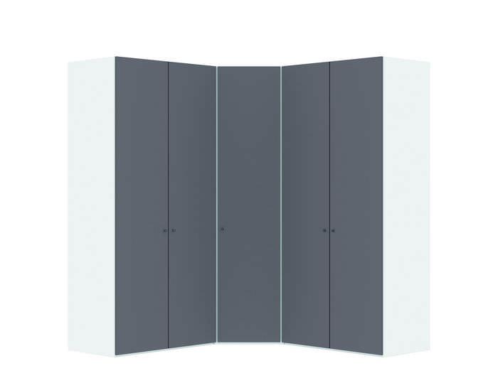 Judine Hampus Hoekkast Donkergrijs/Wit 5 deurs