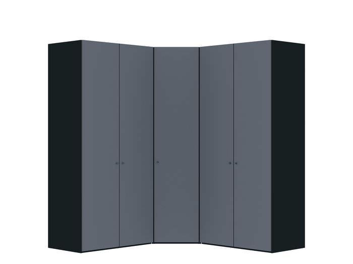 Judine Hampus Hoekkast Donkergrijs/Zwart 5 deurs