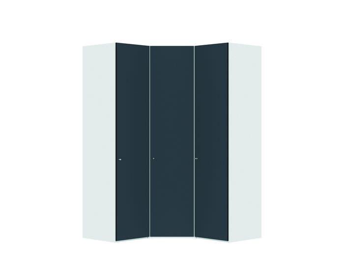 Judine Lovisa Hoekkast Antraciet/Wit 3 deurs