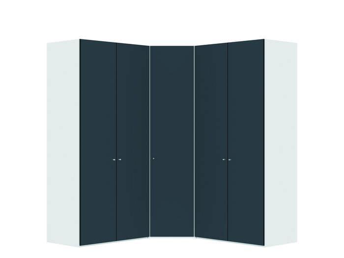Judine Lovisa Hoekkast Antraciet/Wit 5 deurs