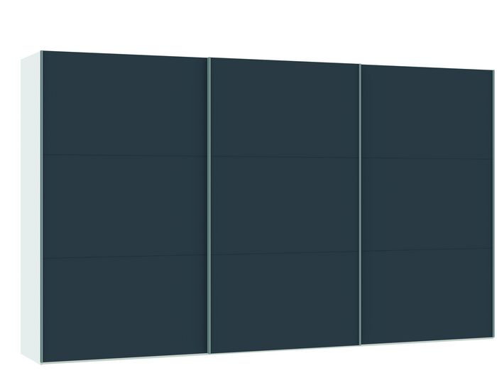 Judine Lovisa Schuifdeurkast Antraciet/Wit 378.6 cm.