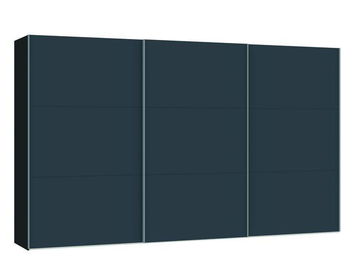 Judine Lovisa Schuifdeurkast Antraciet/Zwart 378.6 cm.