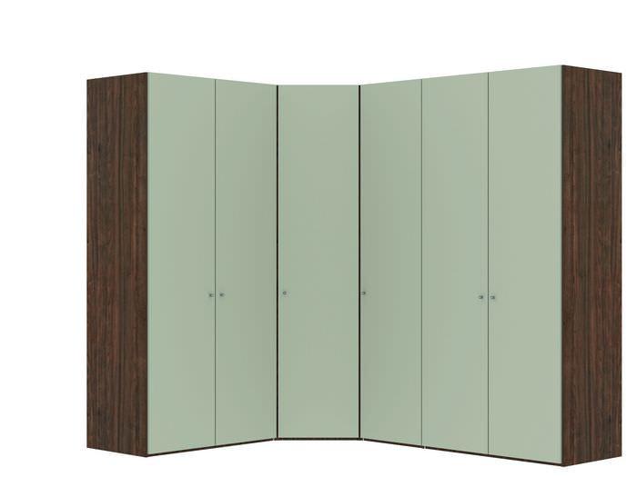 Judine Manda Hoekkast Ecru/Walnoot 6 deurs