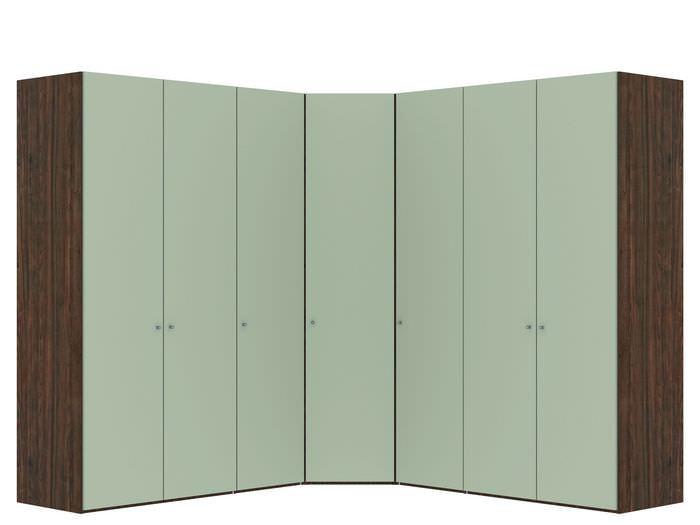 Judine Manda Hoekkast Ecru/Walnoot 7 deurs