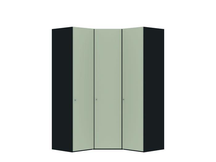 Judine Manda Hoekkast Ecru/Zwart 3 deurs