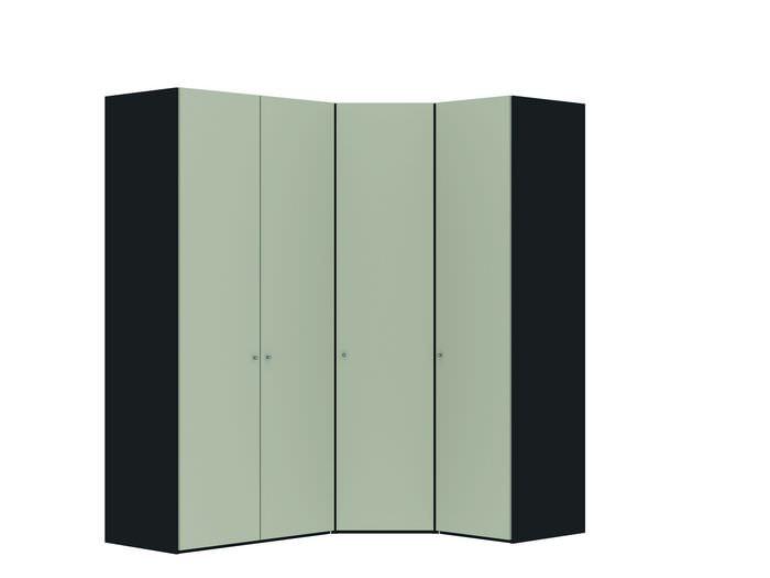 Judine Manda Hoekkast Ecru/Zwart 4 deurs