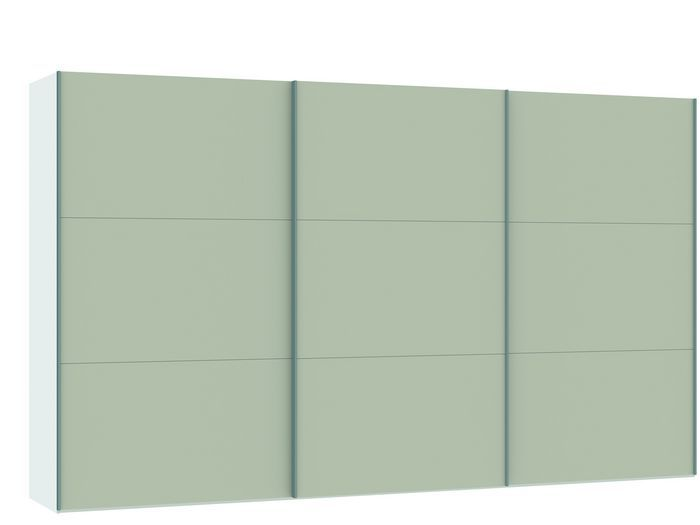 Judine Manda Schuifdeurkast Ecru/Wit 378.6 cm.