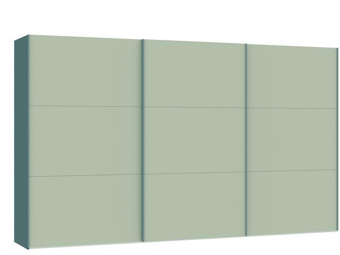 Judine Manda Schuifdeurkast Ecru/Zilver 378.6 cm.