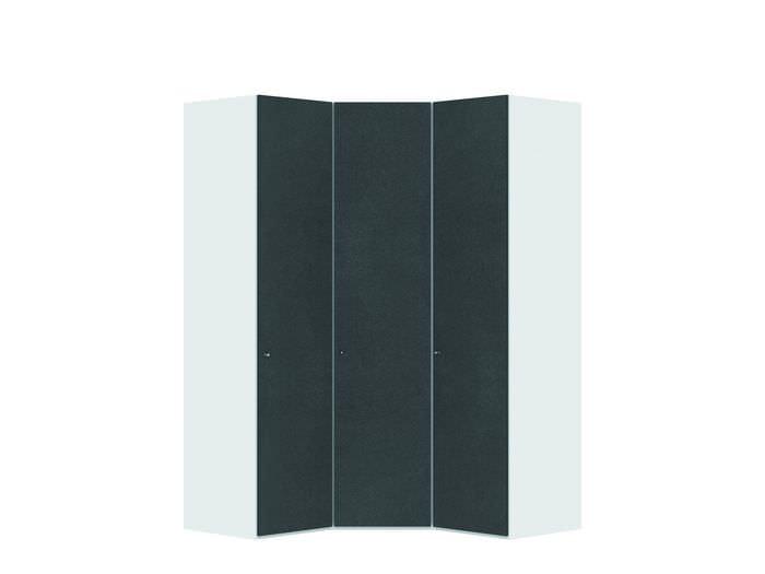 Judine Mikkel Hoekkast Antraciet/Wit 3 deurs