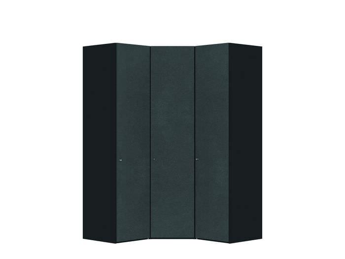 Judine Mikkel Hoekkast Antraciet/Zwart 3 deurs