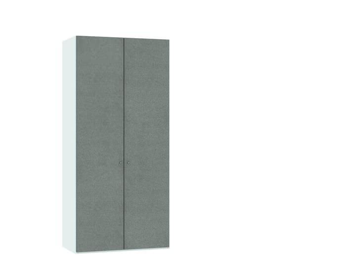 Judine Solvig Draaideurkast Grijs/Wit 2 deurs