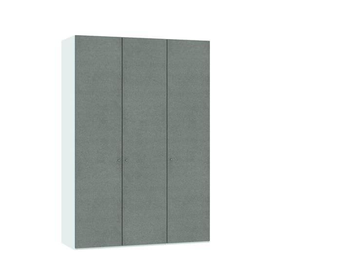 Judine Solvig Draaideurkast Grijs/Wit 3 deurs