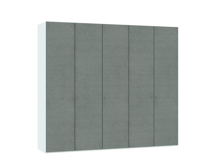 Judine Solvig Draaideurkast Grijs/Wit 5 deurs