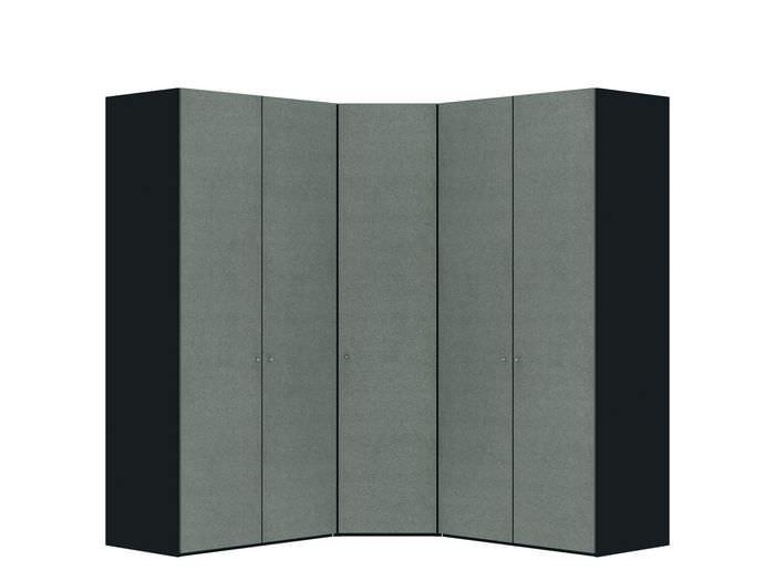 Judine Solvig Hoekkast Grijs/Zwart 5 deurs
