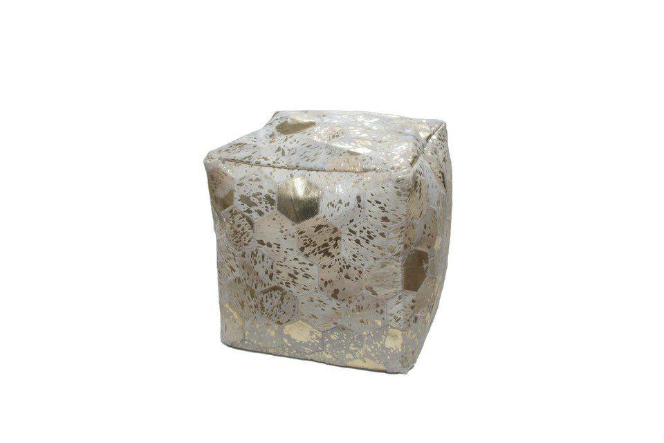Kayoom Spark Poef Ivory/Goud 200