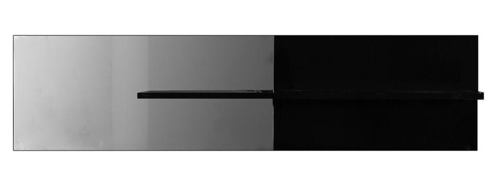 Monaica Electra Wandplank HG Zwart u20ac 237.15 bij Trendymeubels