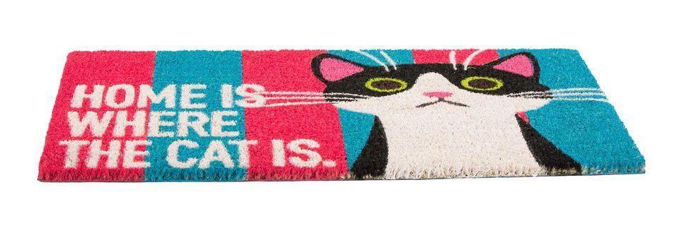 Obsession Deurmat Mats Cats Roze/Blauw