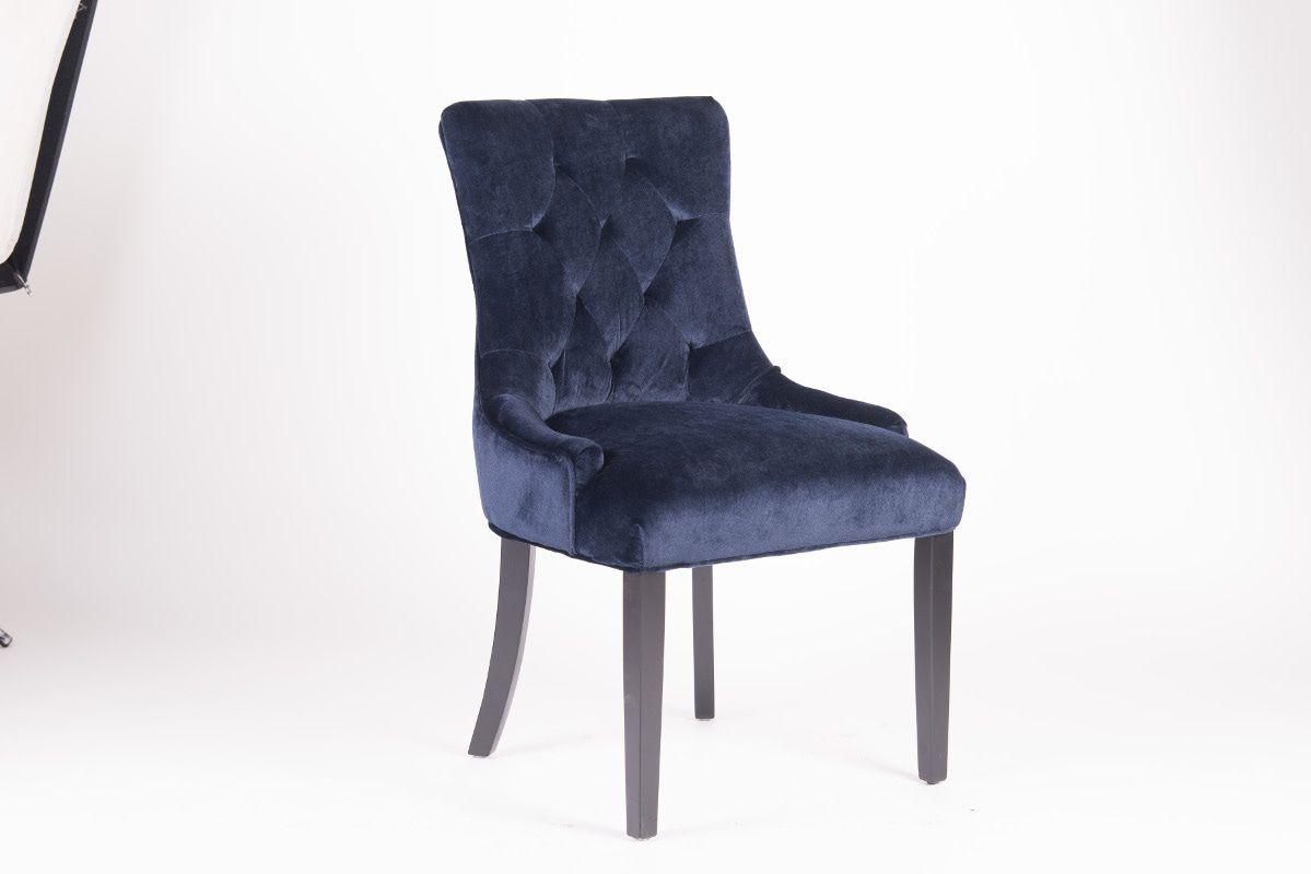 Rousseau Bristol Eetkamerstoel Blauw/Zwarte Poten