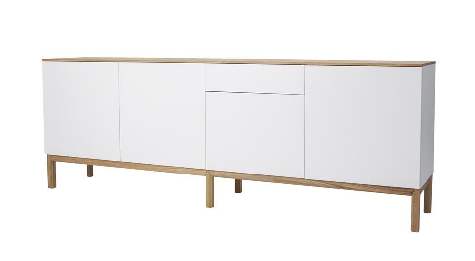 Tenzo Patch Dressoir 238 cm. Wit/Eiken Fineer