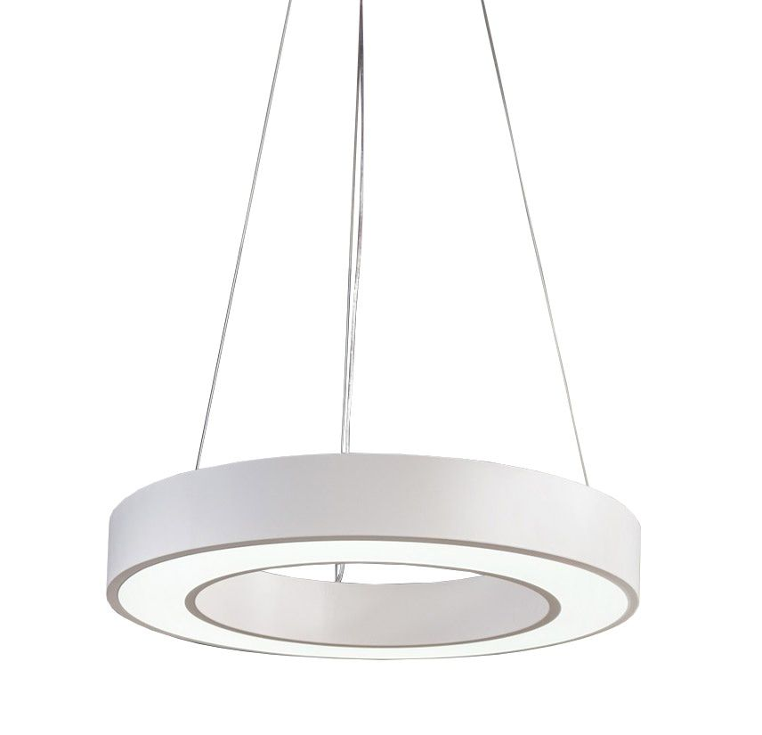 Sky Style Circle Led Hanglamp Wit