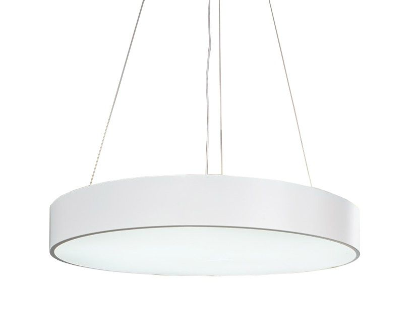 Sky Style Round Led Hanglamp Wit