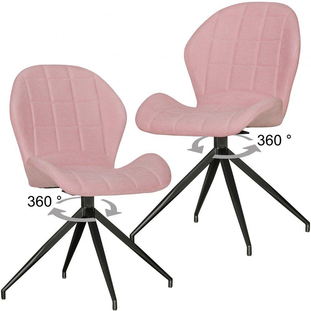 Sky Style Yuki Eetkamerstoel 2 stuks Roze
