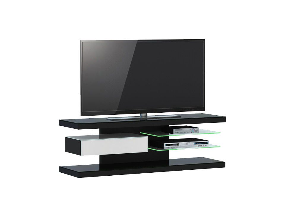 jahnke moebel tv meubel sl 660 led zwart jahnke moebel in. Black Bedroom Furniture Sets. Home Design Ideas